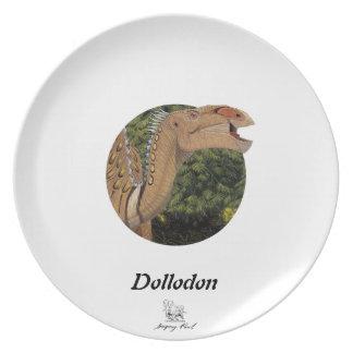 Dinosaur Plate Dollodon Portrait Gregory Paul