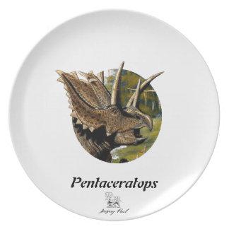 Dinosaur Plate Pentaceratops Portrait Gregory Paul
