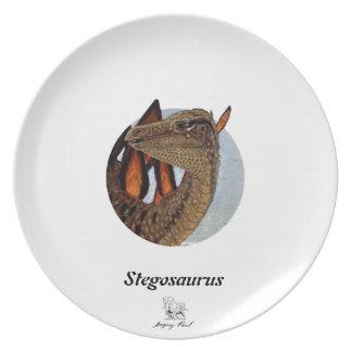 Dinosaur Plate Stegosaurus Portrait Gregory Paul