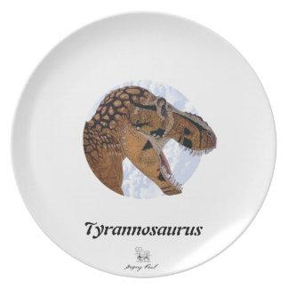 Dinosaur Plate Tyrannosaurus Portrait Gregory Paul