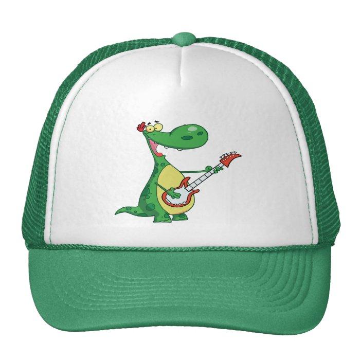 Dinosaur Plays Guitar Trucker Hat