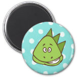 Dinosaur Polka Dot Magnet (in blue and green)