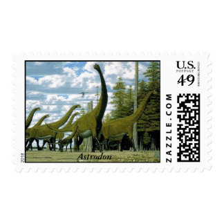 Dinosaur Postage Astrodon by Gregory S. Paul