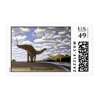 Dinosaur Postage Brontosaurus Gregory Paul