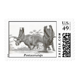 Dinosaur Postage Pentaceratops by Gregory S. Paul
