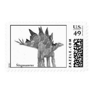 Dinosaur Postage Stegosaurus by Gregory S. Paul