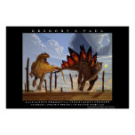 Dinosaur Poster Allosaurus Stegosaurus Greg Paul