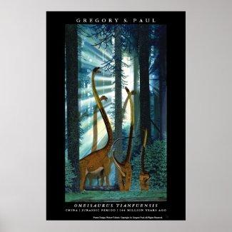 Dinosaur Poster Omeisaurus Gregory Paul