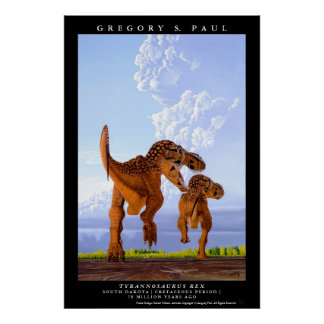 Dinosaur Poster Tyrannosaurus T rex Greg Paul