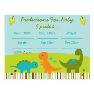 Dinosaur Predictions For Baby Game Postcard