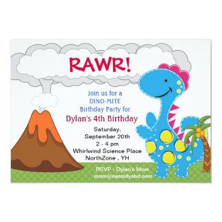 Dinosaur prehistoric Birthday Party Invitation