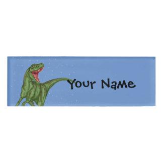 Dinosaur - Prehistoric Night Name Tag