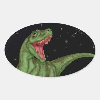 Dinosaur - Prehistoric Night Oval Sticker