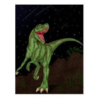 Dinosaur - Prehistoric Night Postcard