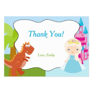 Dinosaur Princess Thank You Tag Label Large Business Card