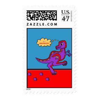 Dinosaur Printmaker Postage