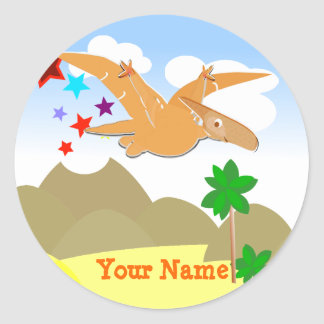 Dinosaur Pteranodon Name Stickers