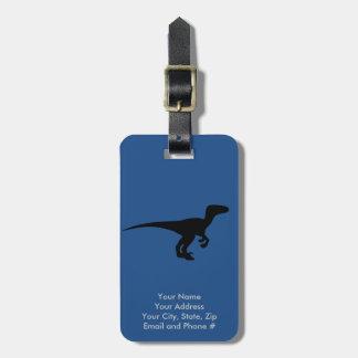 Dinosaur Raptor, Dino Design Bag Tag