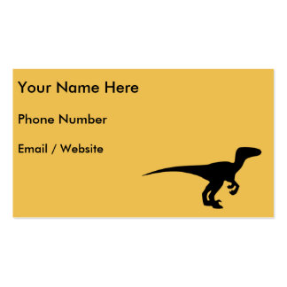 Dinosaur Raptor, Dino Design Double-Sided Standard Business Cards (Pack Of 100)