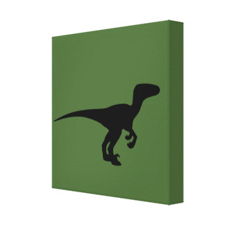 Dinosaur Raptor, Dino Design Canvas Print