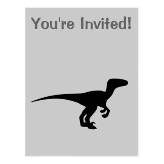 Dinosaur Raptor, Dino Design Post Card