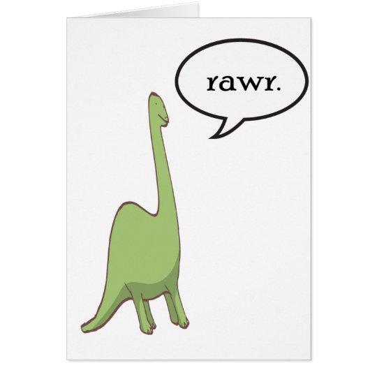 Dinosaur rawr! card