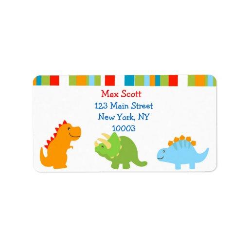 Dinosaur return address labels