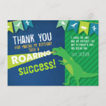 """Dinosaur Roaring Boy Birthday Thank You Card<br><div class=""""desc"""">Dinosaur Roaring Boy Birthday Thank You Card</div>"""