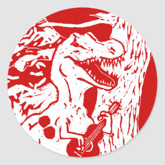 Dinosaur Rocks Classic Round Sticker