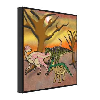 Dinosaur Romp Canvas Print