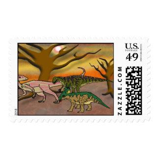 Dinosaur Romp Postage Stamp
