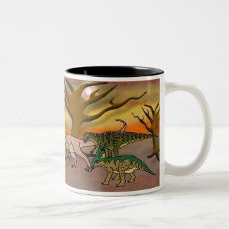 Dinosaur Romp Two-Tone Coffee Mug