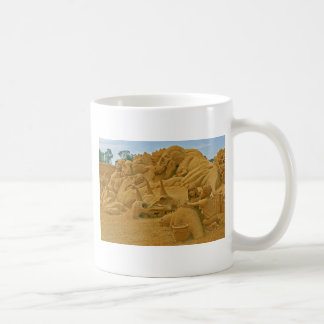 Dinosaur Sand Castle Sculptures Dinostory Coffee Mug