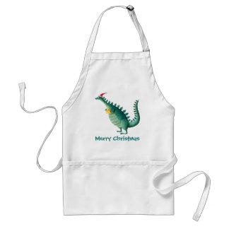 Dinosaur - Santa Claus Helper Adult Apron