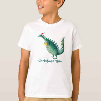 Dinosaur - Santa Claus Helper T-Shirt