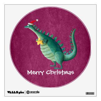 Dinosaur - Santa Claus Helper Wall Sticker