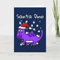 Dinosaur Santa Dino Snowed in Card