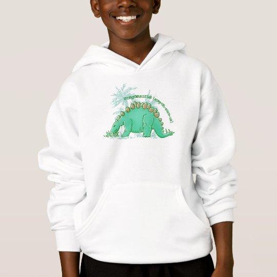 Dinosaur say Stegosaurus green boys hoodie