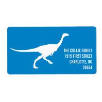 Dinosaur Silhouette Custom Color Address Label
