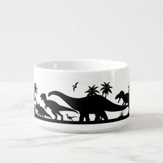 Dinosaur Silhouettes Bowl