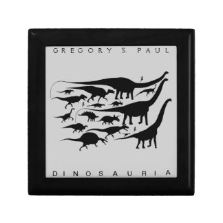 Dinosaur Silhouettes Gift Box Gregory Paul