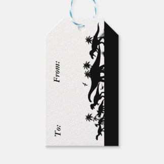 Dinosaur Silhouettes Gift Tags