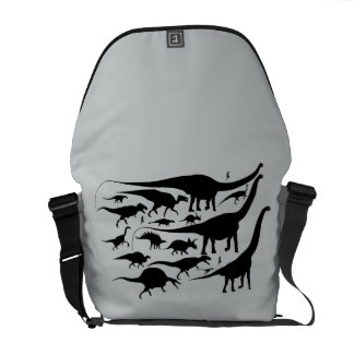 Dinosaur Silhouettes Messenger Bag Gregory Paul