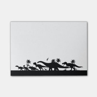 Dinosaur Silhouettes Post-it Notes
