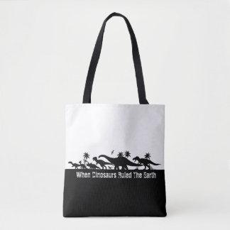 Dinosaur Silhouettes Tote Bag
