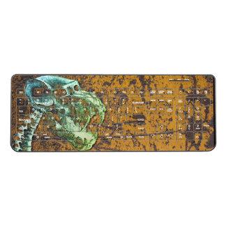 Dinosaur Skeleton Rusty Grunge Wireless Keyboard