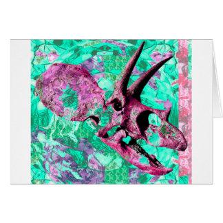 Dinosaur Skull Print Design Card