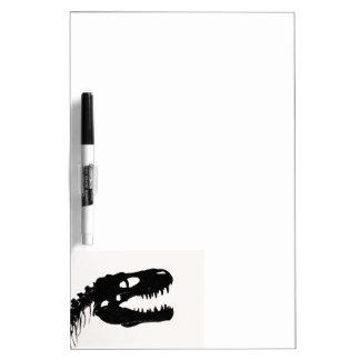 Dinosaur skull skeleton silhouette Dry-Erase whiteboard