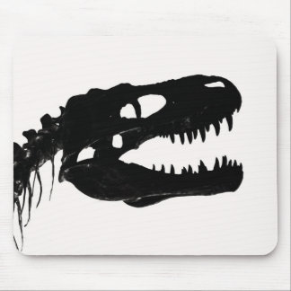Dinosaur skull skeleton silhouette mouse pad