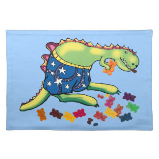 Dinosaur snack time cloth placemat